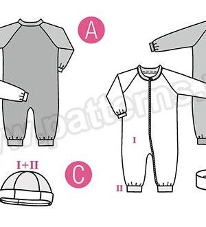 Выкройка Burda №9328 — Комбинезон, шапочка