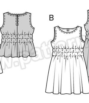 Выкройка Burda №9367 — Платье, Топ