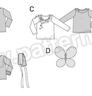 Выкройка Burda №2371 — Карнавальные костюмы: Ведьма, Принцесса льда, Эльф