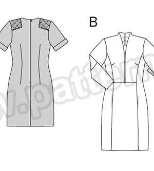 Выкройка Burda №6832 — Платье