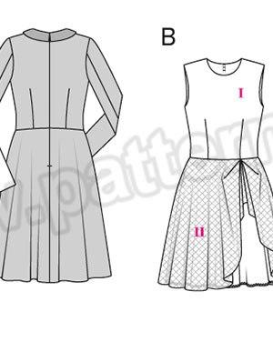 Выкройка Burda №6833 — Платье
