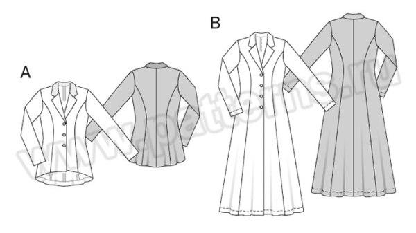 Выкройка Burda №6870 — Жакет, Легкое пальто