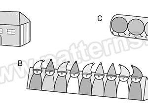 Выкройка Burda №6882 — Напольные подушки