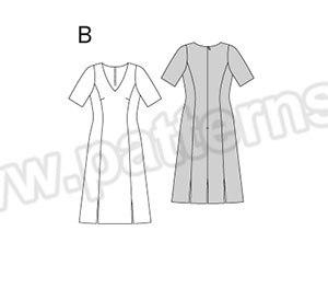 Выкройка Burda №6894 — Платье
