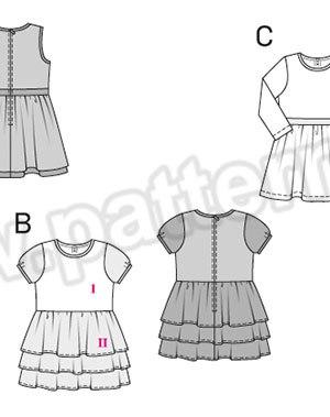 Выкройка Burda №9427 — Платье