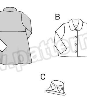 Выкройка Burda №9429 — Пальто, Куртка, Шляпа