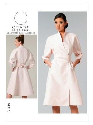 Выкройка Vogue №1239 — Платье-кимоно от Ralph Rucci