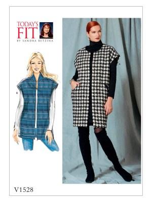 Выкройка Vogue №1528 — Жилет от Today's Fit by Sandra Betzina