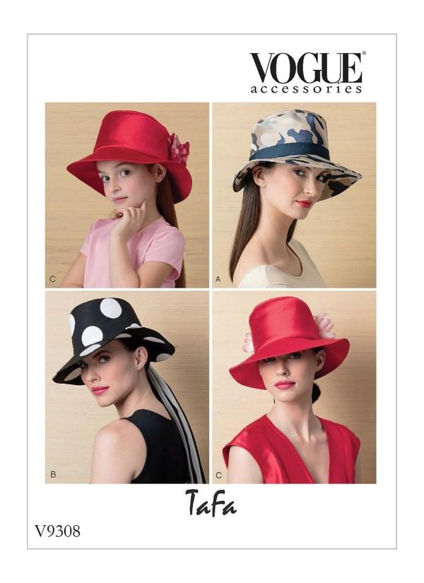 Выкройка Vogue №9308 — Шляпы от TaFa
