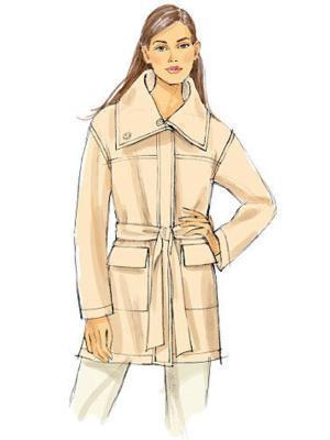 Выкройка Vogue  8794 — Куртка в стиле милитари с накладными карманами