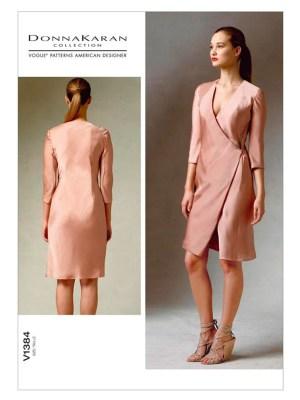 Выкройка Vogue №1384 — Платье с запахом от Donna Karan