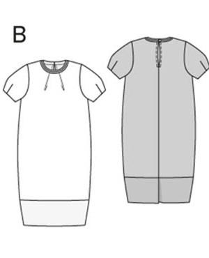 Выкройка Burda  6914 — Платье, топ со складками у горловины