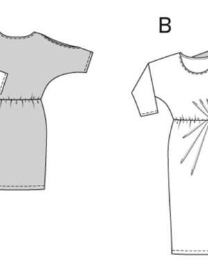 Выкройка Burda  6919 — Платье с рукавами-кимоно