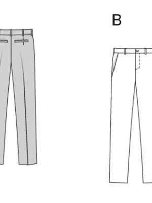Выкройка Burda №6933 — Мужские брюки