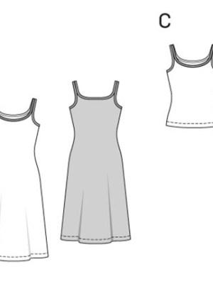 Выкройка Burda  6964 — Нижнее белье, нижняя юбка, невидимое белье