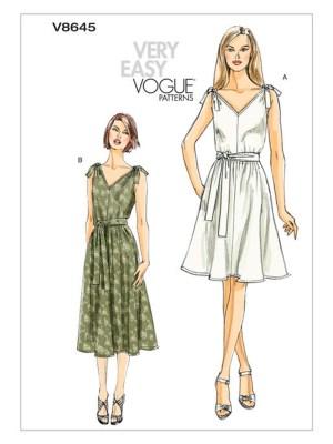 Платье-сарафан выкройка Vogue