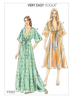 Выкройка Vogue  9253 — Платье в стиле кимоно