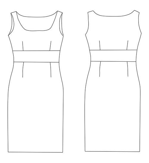 Выкройка платья в формате pdf для скачивания