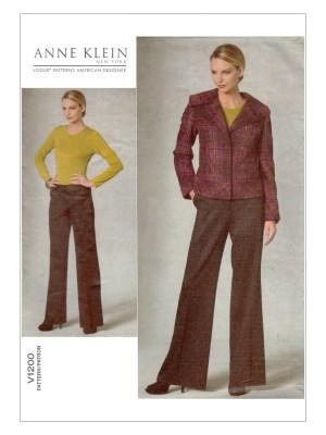 Выкройка Vogue №1200 — Жакет, брюки от Anne Klein