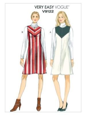 Выкройка Vogue №9122 — Платье-Сарафан