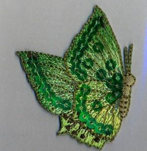 Термоаппликация Mono Quick (06352) – Бабочка с пайетками