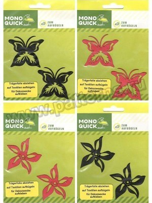 Термоаппликация Mono Quick (08011_4) – Бабочки и Цветочки