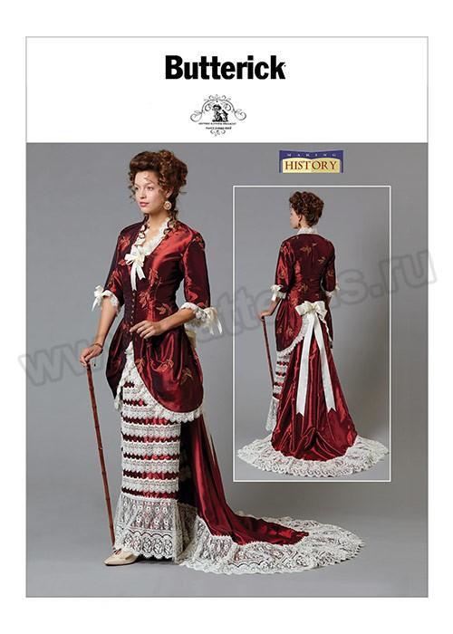 Выкройка Butterick — Исторический костюм женский - B6572