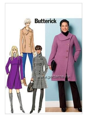 Выкройка Butterick №6292 — Пальто