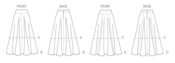 Выкройка McCall's — Юбка на кокетке - M6799 ()