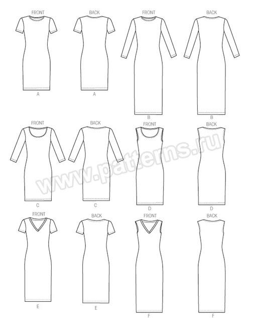 Выкройка McCall's — Платье - M6886