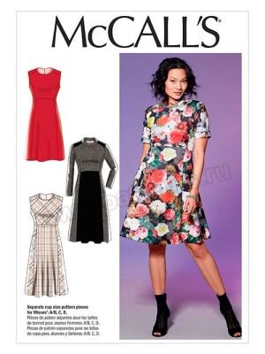 Выкройка McCall's №7651 — Платье