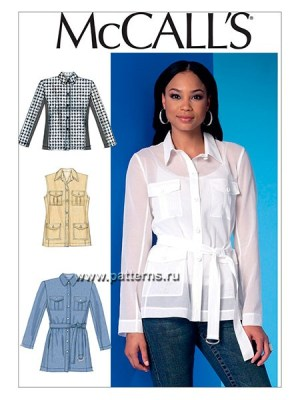 Выкройка McCall's — Рубашка, Жилет - M7365 ()