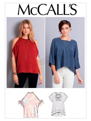 Выкройка McCall's — Топ, блузка - M7750