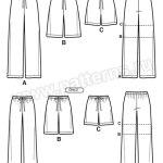 Выкройка Simplicity — Домашние брюки, шорты - S1520