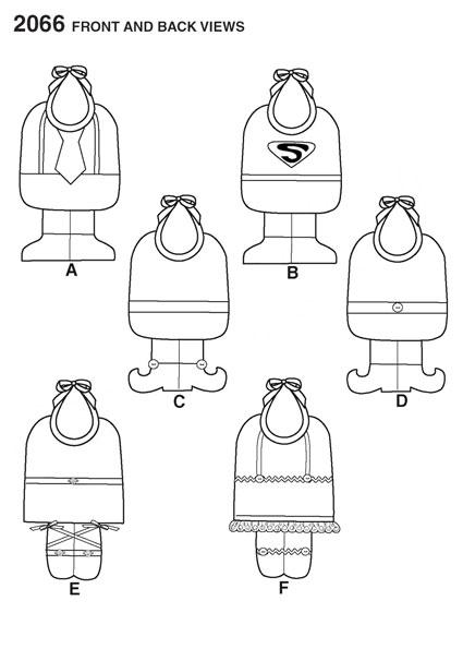 Выкройка Simplicity — Фартук для малыша - S2066