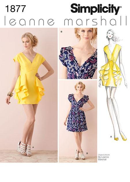 Выкройка Simplicity — Короткое платье - S1877 ()