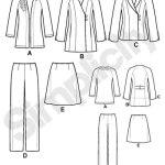 Выкройка Simplicity — Костюм: жакет, юбка, брюки - S2288 ()