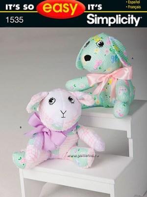 Выкройка Simplicity — Мягкие игрушки: собака, ягненок - S1535
