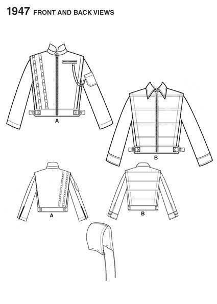 Выкройка Simplicity — Мужская куртка - S1947 ()