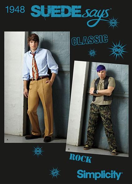 Выкройка Simplicity — Мужские брюки - S1948 ()