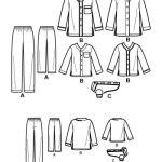 Выкройка Simplicity — Одежда для сна - S2771 ()