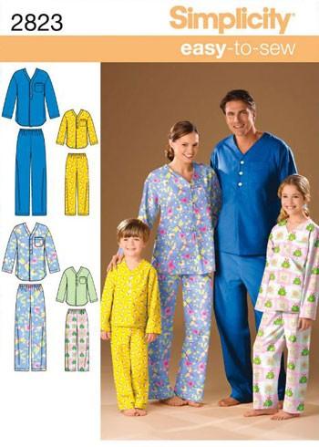 Выкройка Simplicity — Одежда для сна - S2823 ()