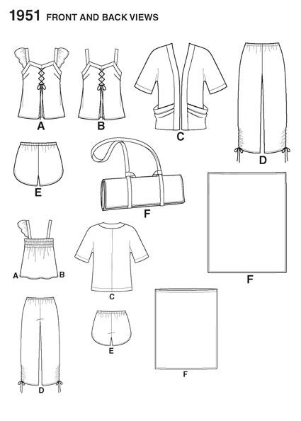 Выкройка Simplicity — Пижама - S1951
