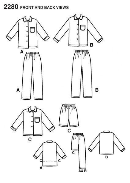 Выкройка Simplicity — Пижама - S2280 ()