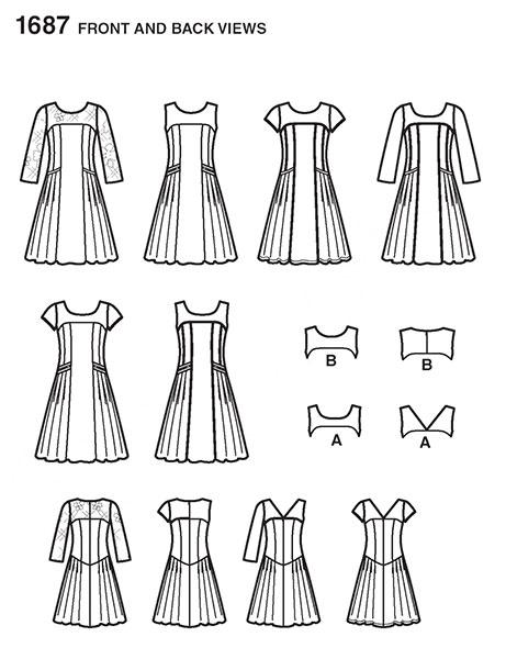 Выкройка Simplicity — Платье - S1687 ()