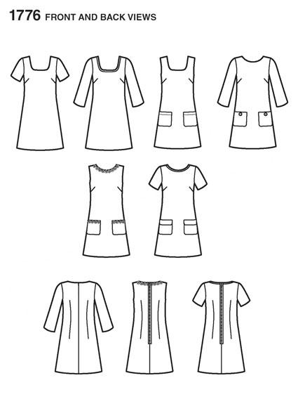Выкройка Simplicity — Платье - S1776