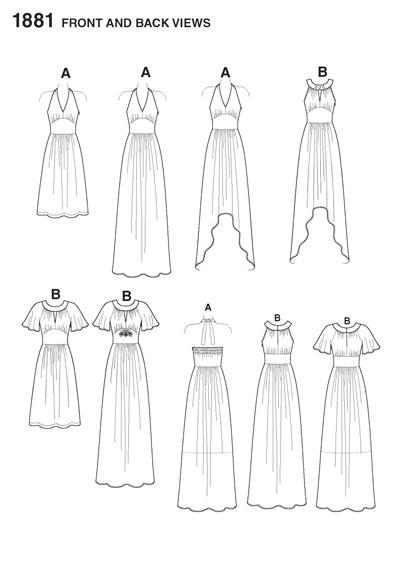 Выкройка Simplicity — Платье - S1881 ()