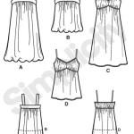 Выкройка Simplicity — Платье, Топ - S3882 ()