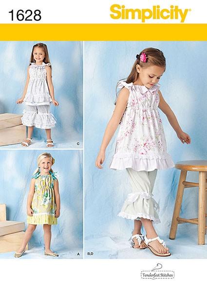 Выкройка Simplicity — Платье, Туника, Брюки - S1628