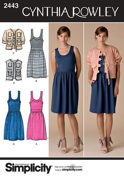 Выкройка Simplicity — Платье, Жакет - S2443 ()